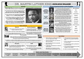 Martin Luther King Knowledge Organiser!