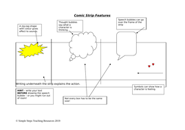 Comic Strip Features and Blank Storyboard