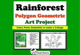 Rainforest Animals, Polygon, Geometric Art Project