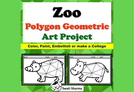 Zoo Animals, Polygon, Geometric Art Project