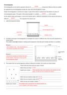 Chromatography worksheet (KS3 or GCSE)