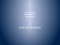 GCSE Art - Plan Final Piece