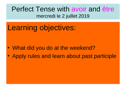 Perfect-Tense-with-avoir-and--tre.ppt