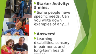Tech Awards in Health and Social Care -Component 2 - Learning Aim A