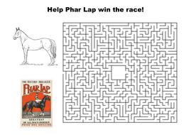 Help Phar Lap win the race maze puzzle