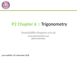 Pure Year 2 Chapter 6 - Trigonometric Functions