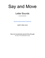 Say and Move phonics with game