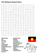 The Rainbow Serpent Story Word Search