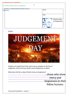 GSCE Edexcel - Islam - Crime and Punishment - Forgiveness and revision - 2 lessons