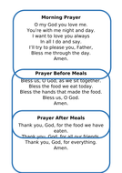 Classroom Prayers