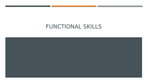 Functional Skills: new specification