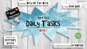 Upper KS2 Daily Tasks (for more visit dm.education)