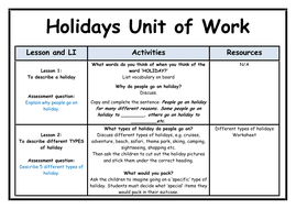 Holidays - Unit of Work