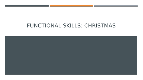 Functional Skills: Facts and Opinions
