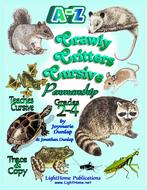 """Crawly Critters"" Cursive Penmanship A-Z"