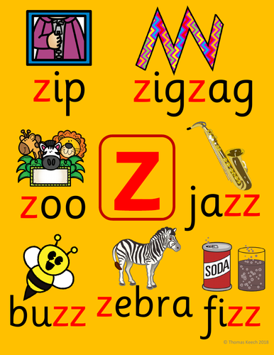 Phonics Worksheets, Lesson Plan, Flashcards - Jolly Phonics Letter Z Lesson  Pack | Teaching Resources
