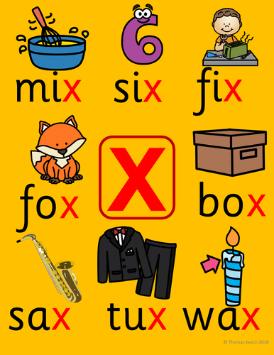 Phonics Worksheets, Lesson Plan, Flashcards| Jolly Phonics Letter X Lesson  Pack | Teaching Resources