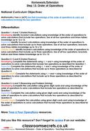 Year 6 Order of Operations Autumn Block 2 Maths Homework Extension