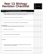 OCR A Biology AS Revision Checklist (new spec)