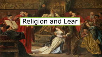 A series of lessons on whether King Lear is truly a pagan or a Christian play.