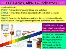 GCSE EDEXCEL Science 9-1 - Chemistry - CC8 Acids & alkalis