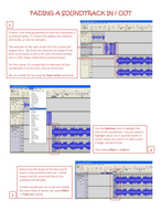 Four tutorials for use with Audacity (II)