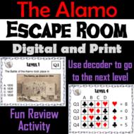 Battle of the Alamo Activity: Social Studies Escape Room (Texas Revolution Unit)