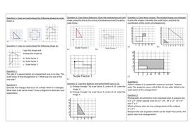 Enlargement worksheets