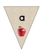 Alphabet bunting: Lower case