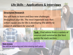 Application and Interview Skills