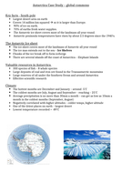 AQA A-Level Geography GS&G Antarctica CS