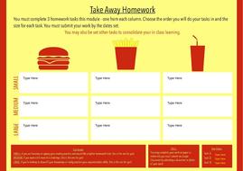 Template: TakeAway Homework - Burger Bar Graphic