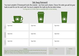 Takeaway Homework Template - Coffee Shop