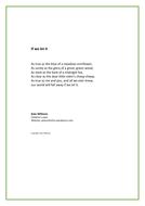 Climate change poem - 'If we let it'