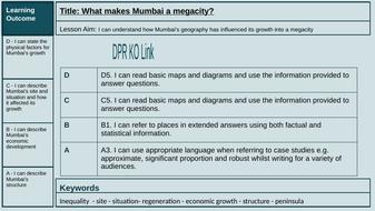 Lesson 6 and 7: What makes Mumbai a megacity?