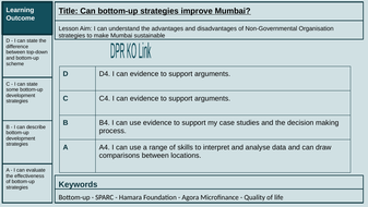 Lesson 12: Can bottom-up strategies improve Mumbai?