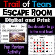 Trail of Tears Activity: Escape Room Social Studies