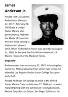 James Anderson Jr Vietnam Medal of Honor Handout