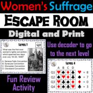 Women's Suffrage Activity: Escape Room Social Studies