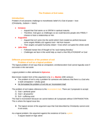 REP the problem of evil notes (OCR A-level)