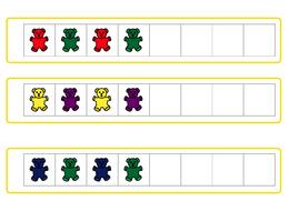 EYFS / KS1 / SEN Teddy bear pattern strips, pattern activity