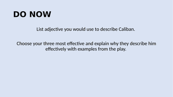 Lesson-16-and-17---Writing-about-Caliban.pptx
