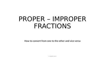 Proper and Improper fraction