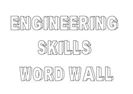 11 Engineering Skills (Metalwork) -  Word Wall