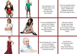 Describing in Spanish - Descriptions - Actividades para describir personas