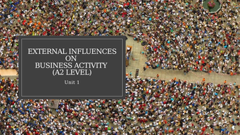 Unit 1 Business and Its Environment: External Influences on Business Activity (A2 Level).pptx