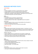 AQA PSYCHOLOGY A2 RESEARCH METHODS SUMMARY