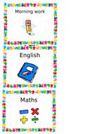 editable visual class timetable