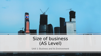 Unit 1 Business and Its Environment: Size of Business (AS Level).pptx