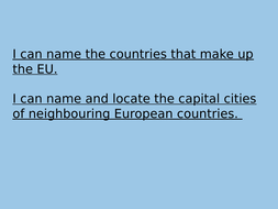 Geography EU & Capitals PowerPoint